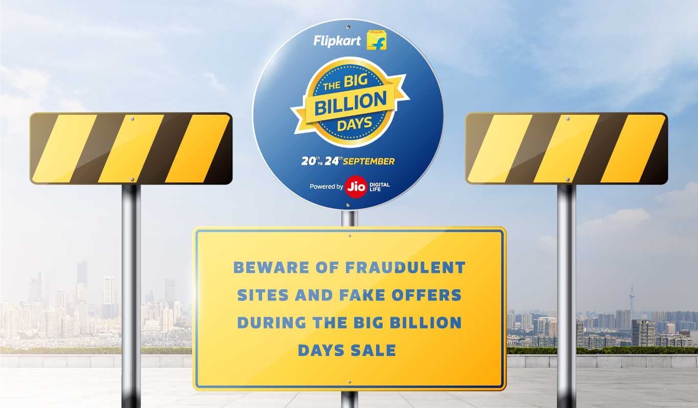 Shop safe! Beware of fraudulent sites and fake offers misusing Flipkart's name