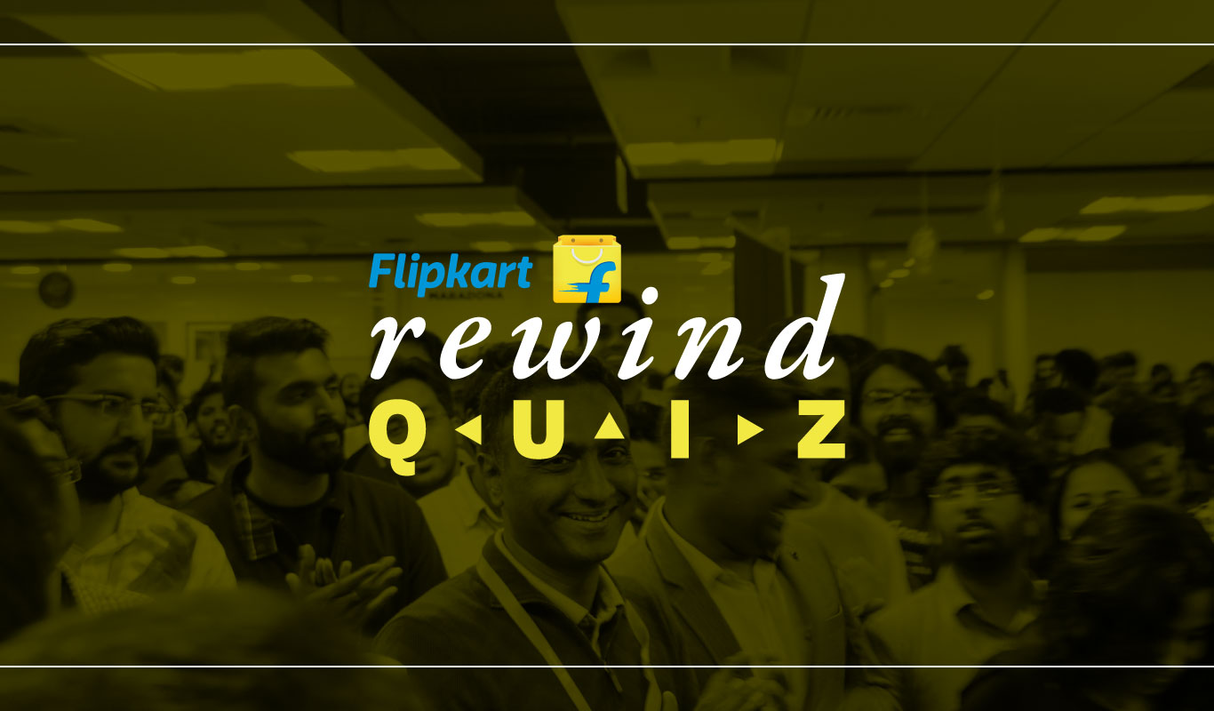 #FlipkartRewindQuiz – Revisit Flipkart's 2017 and win big!