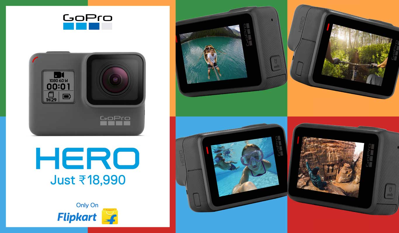 Adventure has a new name: The latest GoPro HERO #OnlyOnFlipkart