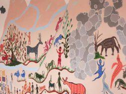 Flipkart Tribal Art Wall Mural