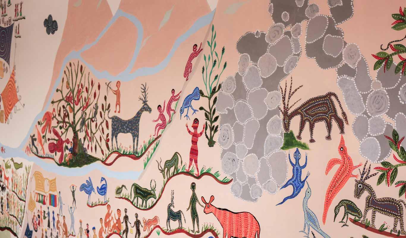 At Flipkart's new office, a tribal art mural tells a proud Indian story